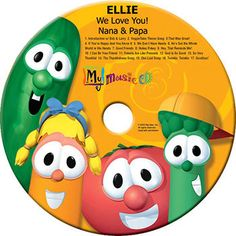 PERSONALIZED MUSIC CD Sing along with the Veggie Tales in this by PersonalizedBooksRUs