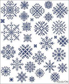 Vittoriano Geometrico SERIE Classic NEEDLEPOINT Design 60-Fiocchi di neve *