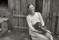 """1937. """"Mrs. Mary McLean, Skyline Farms, Alabama."""" 35mm nitrate negative by Ben Shahn for the Farm Security Administration."""