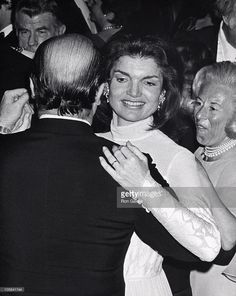 1976-01-26: Jackie Kennedy Onassis and Alejandro Orfila during OAS Party following the Kennedy Center Gala at Kennedy.