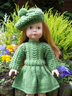American Girl Knitting Pattern ... Just so adorable and sweet.