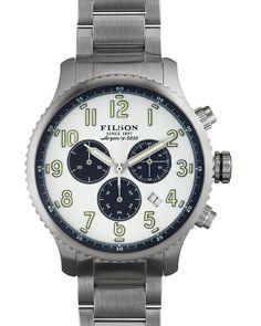 Filson The Mackinaw Field Chronograph Watch, 43mm