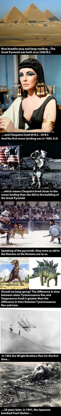 Time facts and the pyramids...