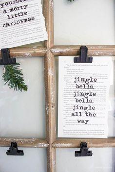 Christmas Book Art with FREE Printables   ahouseandadog.com