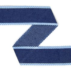 Tie Back for Door Curtain - need a curtain due to draft of late... Denim Ribbon – marine blue