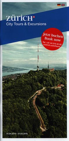 https://flic.kr/p/FpQVqU | Zürich City Tours & Excursions 2015; Switzerland | tourism travel brochure | by worldtravellib World Travel library