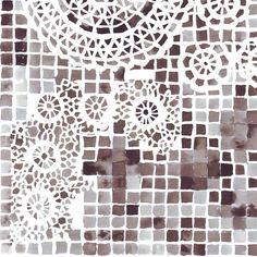 mosaic doily fabric by katarina on Spoonflower - custom fabric