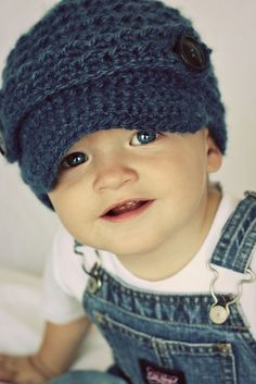 Toddler Boy Newsboy Beanie Crochet - 2014 Winter Beanies for Girls    #crochet #pattern #knitting