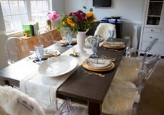 ghost chairs dining table