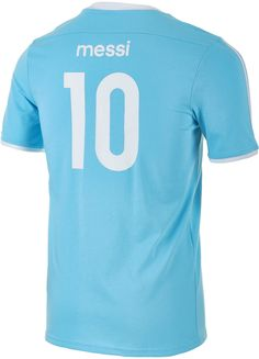 3136b0f8c adidas Youth Argentina Messi Tee (Clear Blue) Soccer Shop