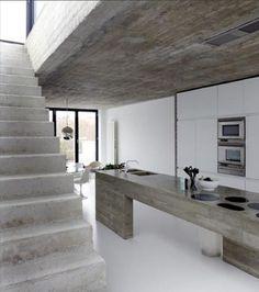Keittiön betonipintaa