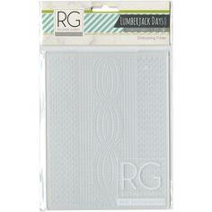 Richard Garay Embossing Folder - Lumberjack Days, Knitted Pattern