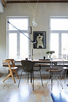 Beautiful boho dining space in my book  The Scandinavian Home (by Niki Brantmark / CICO Books).