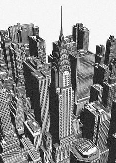 Chrysler Building, Built Environment, Freelance Illustrator, Detailed Image, Willis Tower, How To Draw Hands, Architecture, Illustration, Artist