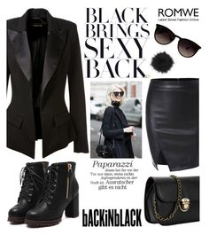 """""""BackinBlack cool edition"""" by karicarmina ❤ liked on Polyvore featuring Alexandre Vauthier, Ray-Ban and La Senza"""