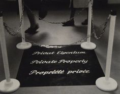 Marcel Broodthaers, Private Property, 1972