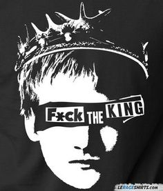 Fuck the king! Everybody hates Joffrey Baratheon, especially the Hound. Now you can show what you think about Joffrey with the Fuck the King T-Shirt.