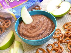 Chocolate hummus. Maybe kids will eat hummus this way.