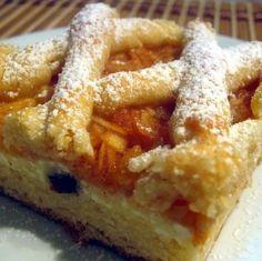 Túrós-almás-rácsos sütemény -- Mindmegette.hu Hungarian Recipes, Apple Pie, Nutella, French Toast, Sweets, Snacks, Cookies, Breakfast, Food