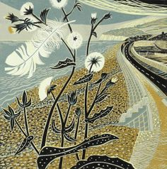 ✽ 'summer breeze' - annie soudain - rye society of artists Art And Illustration, Illustrations, Linocut Prints, Art Prints, Block Prints, Painting & Drawing, Collages, Graphic Art, Images