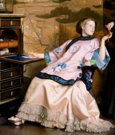 """""""The New Necklace"""" (1910) (detail) by William McGregor Paxton (1869-1941)."""