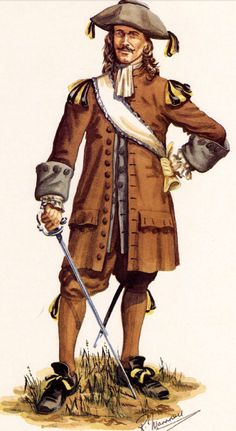 French; InfantryRegiment Carignan-Sallieres, Officer 1665 by R.J.Marrion.