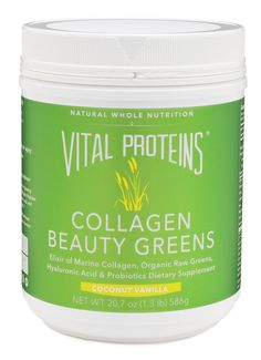 Collagen Beauty Greens, 20 oz Canister