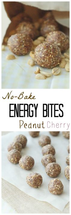 Make my #healthy & #yummy Gluten Free No-Bake Peanut Cherry Energy Bites! They make the perfect gym bag snack! 3ad #PeanutBureau