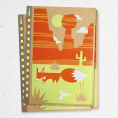 Red Fox Bee Land Notebook, $14, now featured on Fab.