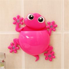 The cutest toothbrush holder for your bathroom wall or cabinet.