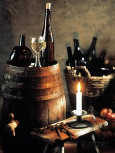 Rustic Wine Setting Photographic Print by Bodo A. Schieren at AllPosters.com