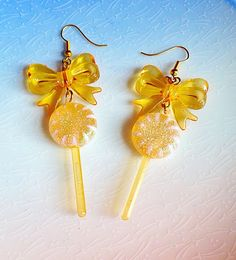 Lollipop Earrings  Halloween Trick or Treat by XKawaiiCutieX
