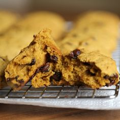 Almost muffin-like in texture, these fluffy pumpkin cookies get bittersweet edge from a generous helping of chocolate chips. Photo: Anna Monette Roberts