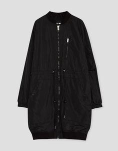 Long bomber jacket - Coats and jackets - Clothing - Woman - PULL&BEAR Ukraine