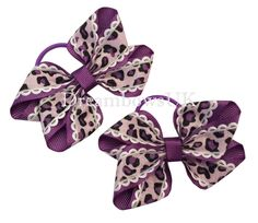 GIRLS HANDMADE BOUTIQUE HAIR BOW BOBBLES IN BLACK STAR RIBBON SOLD IN PAIRS
