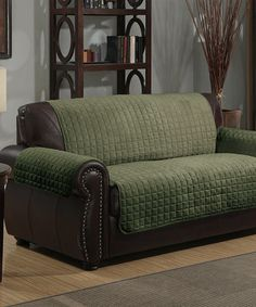 Another great find on #zulily! Sage Microsuede Loveseat Furniture Protector #zulilyfinds