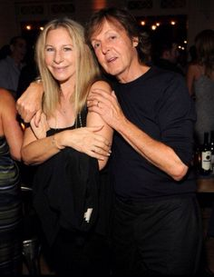 Babs & Paul McCartney on August 16, 2014 in the Hamptons, NY.