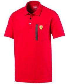 Polo homme Ferrari Signature Scudetto Rouge