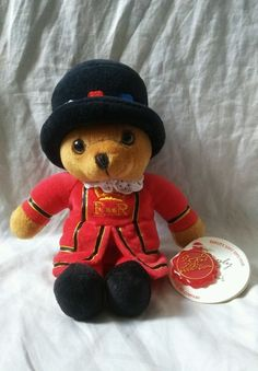 """England Beefeater Teddy Bear Simply Soft Collection 8"""" Keel Toys Limited Plush #KeelToysLimited #EnglandBeefEaters #EnglandBeefeatersPlush"""