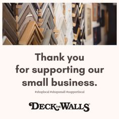 Thank You For Shopping Small - Deck The Walls