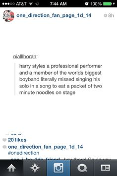 Are we paying for a concert or paying to watch Harry eat? either way It's worth it! so worth it