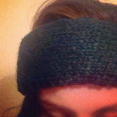 Forestgreen double-layered headband w blackstitches | nomorebadhairdays #ninna