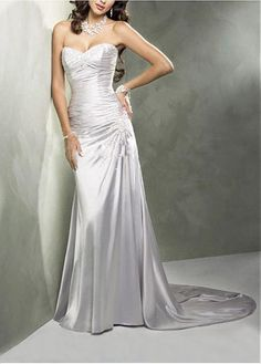 LACE BRIDESMAID PARTY BALL EVENING COCKTAIL GOWN IVORY WHITE FORMAL PROM SWEETHEART BEADED WEDDING DRESS