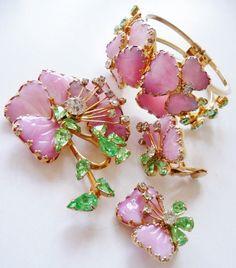 Hobe lampwork clamper bracelet cuff  matching Jewels by Julio