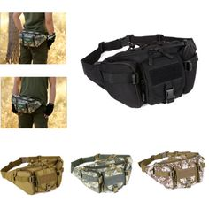 #Tactical waist pack pouch military camping #hiking #outdoor bum hip bag belt bag,  View more on the LINK: http://www.zeppy.io/product/gb/2/351427384596/