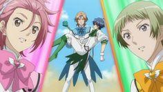 Ryuu, En holding Atsushi, and Io - Binan Koukou Chikyuu Bouei-bu LOVE!