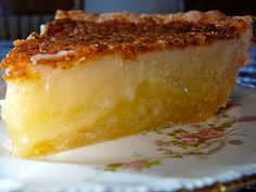 Buttermilk Pie   The Hidden Pantry