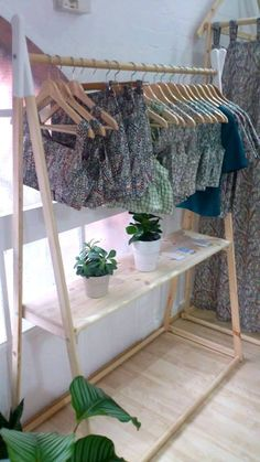 Natural Wood Clothes Rack !    Can be painted in various ways, just contact me via Etsy with the colour choice of yours.    Dimensions: Height : 160 cm