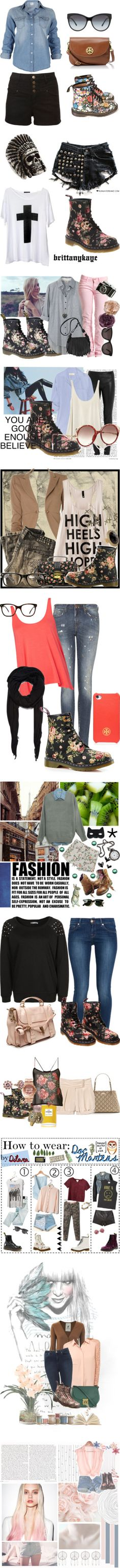 """""""Floral docs outfits"""" by limitlessillusions ❤ liked on Polyvore"""