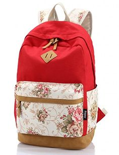 Leaper Casual Style Lightweight Canvas Laptop Backpack Cute Travel School College Shoulder Bag/Bookbags/Daypack for Teenage Girls/Students/Women-With Laptop Compartment Red Leaper http://www.amazon.com/dp/B00SB7YJWY/ref=cm_sw_r_pi_dp_5yUrwb09ZR230